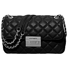 Buy MICHAEL Michael Kors Sloan Large Leather Chain Shoulder Bag, Black Online at johnlewis.com