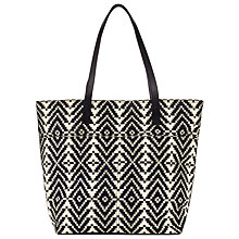 Buy Collection WEEKEND by John Lewis Canvas Tote Bag, Black / White Online at johnlewis.com