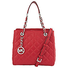 Buy MICHAEL Michael Kors Susannah Medium Leather Tote Bag, Cherry Online at johnlewis.com