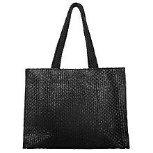 Buy Collection WEEKEND by John Lewis Straw Shopper Bag, Black Online at johnlewis.com