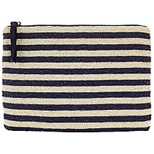 Buy Collection WEEKEND by John Lewis Striped Beaded Pouch Online at johnlewis.com