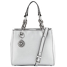 Buy MICHAEL Michael Kors Cynthia Small North/South Leather Satchel Online at johnlewis.com