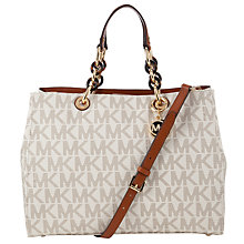 Buy MICHAEL Michael Kors Leather Cynthia Satchel Bag Online at johnlewis.com