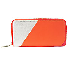 Buy Collection WEEKEND by John Lewis Hayley Leather Zip Around Purse, Multi Online at johnlewis.com