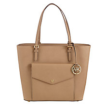 Buy MICHAEL Michael Kors Jet Set Large Pocket Tote, Khaki Online at johnlewis.com