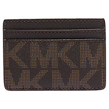 Buy MICHAEL Michael Kors Jet Set Travel Card Holder, Brown Online at johnlewis.com