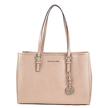 Buy MICHAEL Michael Kors Jet Set Travel Large East West Leather Tote Bag, Ballet Online at johnlewis.com