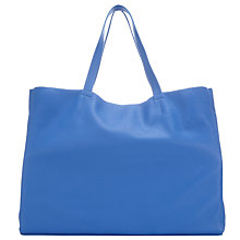 Buy Collection WEEKEND by John Lewis Morgan Raw Edge Leather Tote Bag, Blue Online at johnlewis.com