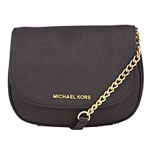 Buy MICHAEL Michael Kors Jet Set Small Leather Across Body Bag Online at johnlewis.com