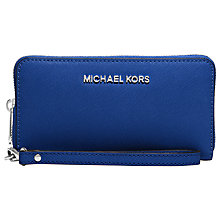 Buy MICHAEL Michael Kors Jet Set Travel Leather Phone Case, Blue Online at johnlewis.com