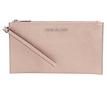Buy MICHAEL Michael Kors Jet Set Travel Leather Zip Clutch Online at johnlewis.com