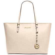 Buy MICHAEL Michael Kors Jet Set Travel Top Zip Leather Tote Online at johnlewis.com