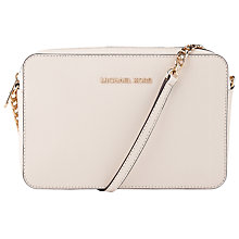 Buy MICHAEL Michael Kors Jet Set Travel East/West Cross Body Bag, Ecru Online at johnlewis.com