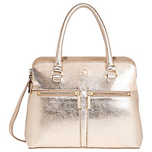 Buy Modalu Small Pippa Leather Grab Bag, Gold Online at johnlewis.com