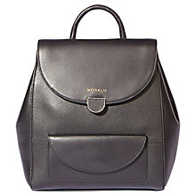 Buy Modalu Flora Small Leather Backpack, Black Online at johnlewis.com
