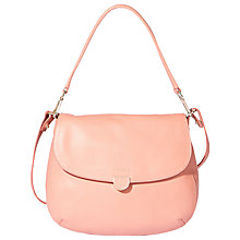 Buy Modalu Skye Casual Leather Satchel, Rose Pink Online at johnlewis.com