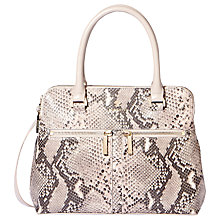 Buy Modalu Pippa Small Leather Grab Bag, Grey Snake Online at johnlewis.com