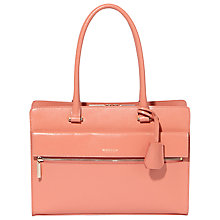 Buy Modalu Erin Structured Leather Tote Bag, Rose Pink Online at johnlewis.com