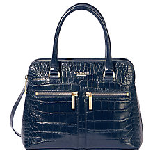Buy Modalu Pippa Small Leather Grab, Navy Croc Online at johnlewis.com