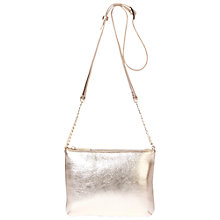 Buy Modalu Twiggy Leather Across Body Bag, Light Gold Online at johnlewis.com