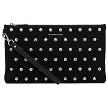Buy MICHAEL Michael Kors Adrienne Large Zip Clutch, Black Online at johnlewis.com