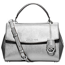 Buy MICHAEL Michael Kors Ava Small Saffiano Leather Satchel Online at johnlewis.com
