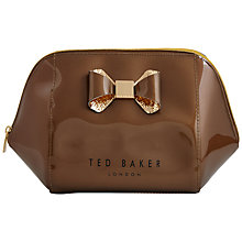 Buy Ted Baker Gold Glitter Bow Extra Large Wash Bag, Rose Gold Online at johnlewis.com
