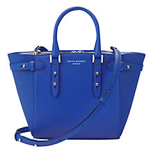 Buy Aspinal of London Marylebone Mini Leather Tote, Cobalt Blue Online at johnlewis.com