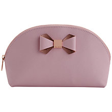 Buy Ted Baker Bow Dome Large Leather Washbag Online at johnlewis.com