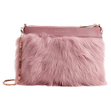 Buy Ted Baker Furrley Shearling Chain Across Body Bag Online at johnlewis.com