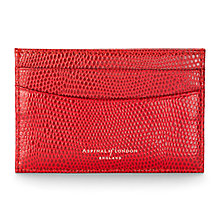 Buy Aspinal of London Slim Leather Credit Card Case, Berry Online at johnlewis.com