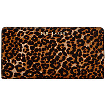 Buy Ted Baker Exotic Crosshatch Purse, Leopard Online at johnlewis.com