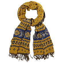 Buy White Stuff Embroidered Jacquard Scarf, Multi Online at johnlewis.com