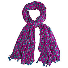 Buy White Stuff The Zebra Print Scarf, Pink Spot Online at johnlewis.com