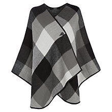 Buy Oasis Reversible Check Wrap, Black Online at johnlewis.com