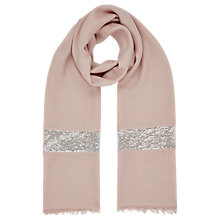 Buy Jacques Vert Sequin Border Scarf, Neutral Online at johnlewis.com
