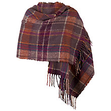 Buy Chesca Super Soft Scarf, Aubergine Online at johnlewis.com