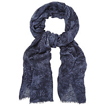 Buy White Stuff Floating Floral Sequin Scarf, Navy Online at johnlewis.com