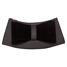 Buy Coast Velvet Bow Bag, Merlot Online at johnlewis.com