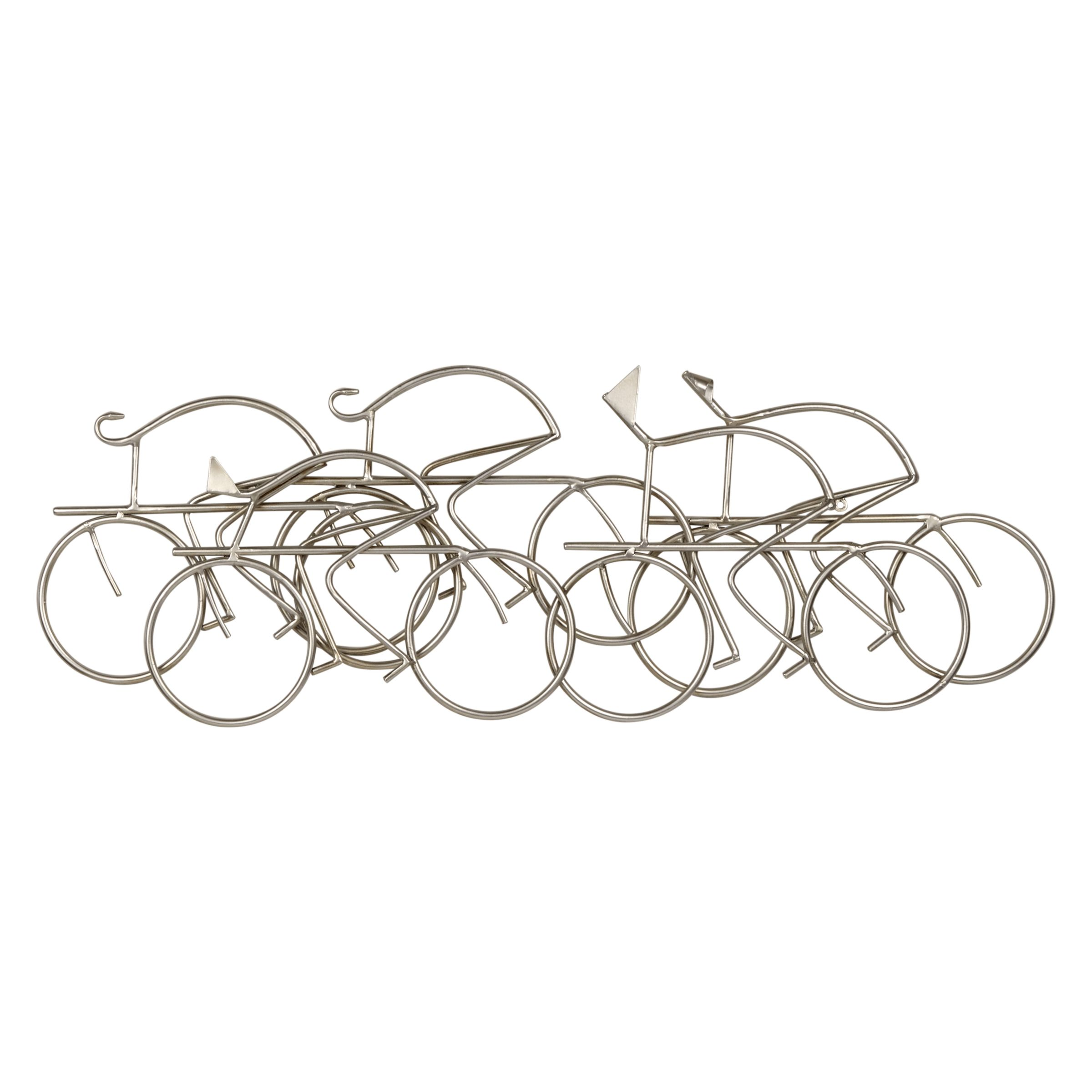 Libra Libra Bicycle Wall Scuplture, Silver