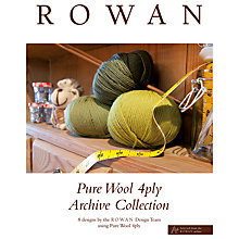 Buy Rowan Pure Wool 4ply Archive Collection Knitting Pattern Book Online at johnlewis.com