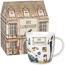Buy At Your Leisure His Lordship Mug Online at johnlewis.com