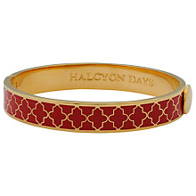 Buy Halcyon Days 18ct Gold Plated Agama Bangle, Red/Gold Online at johnlewis.com