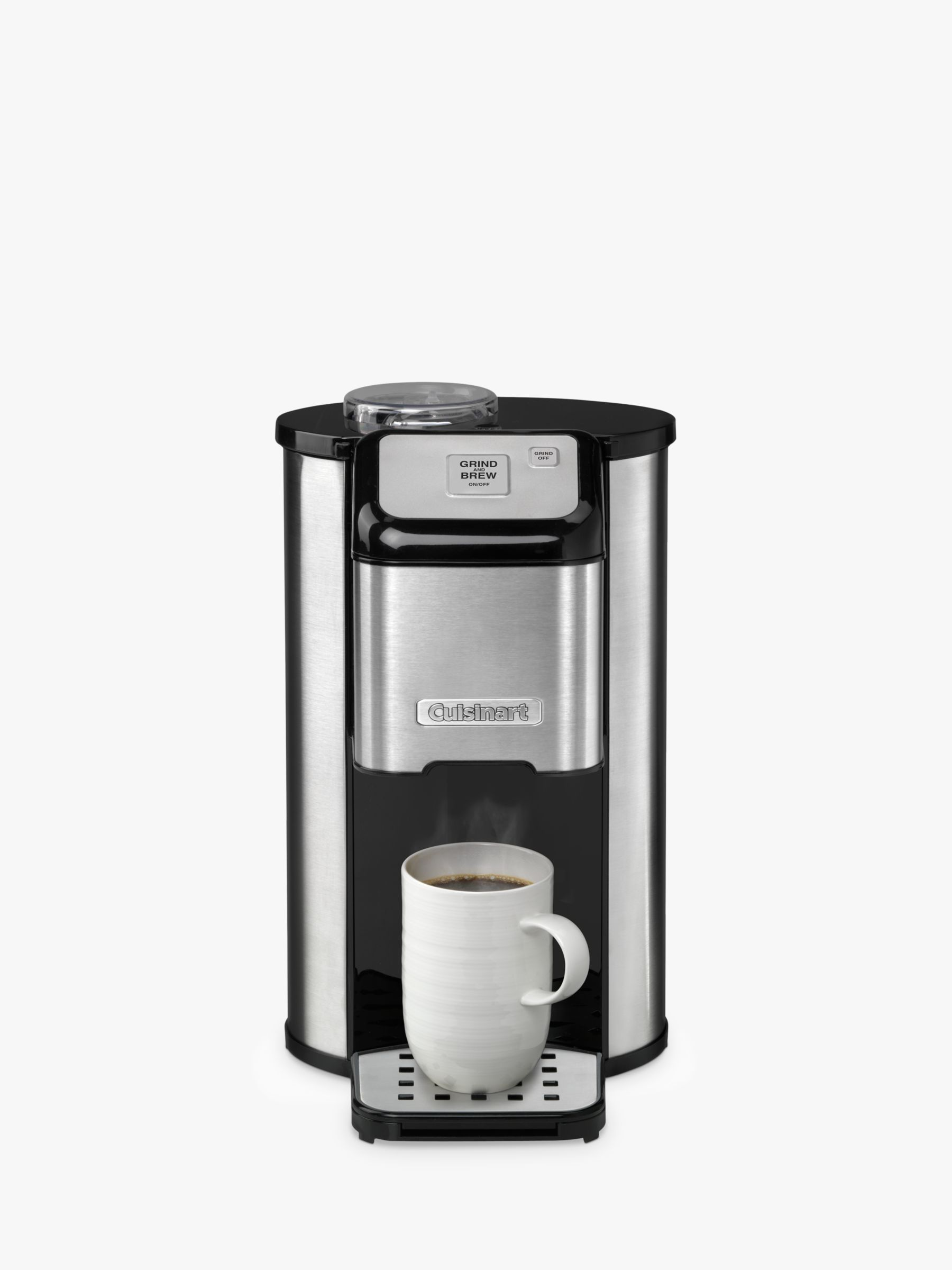 Coffee Maker Qatar : Buy Cuisinart DGB1U Bean-to-Cup Coffee Machine, Stainless Steel John Lewis