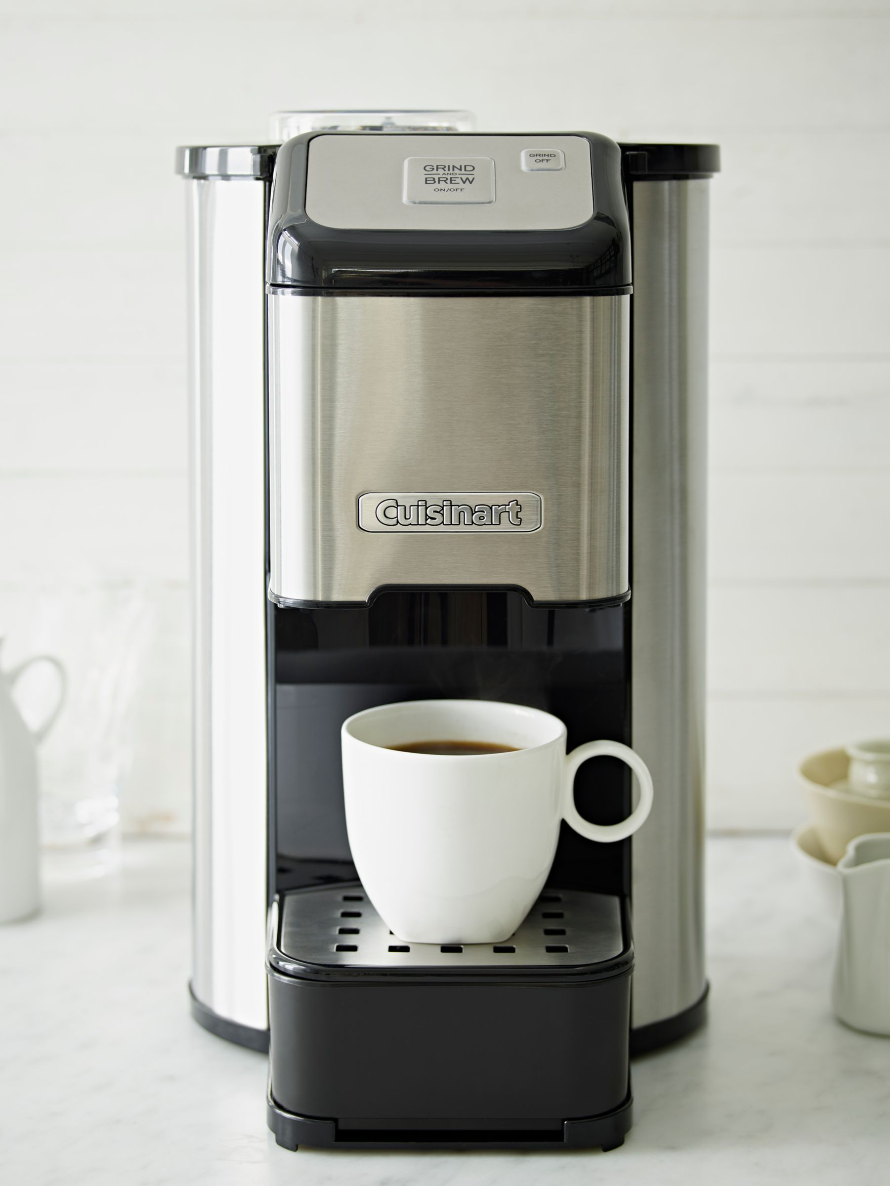 Coffee Makers That Grind Coffee Beans : Buy Cuisinart DGB1U Bean-to-Cup Coffee Machine, Stainless Steel John Lewis