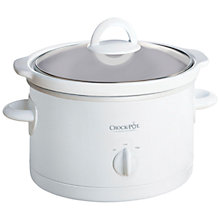 Buy Crock Pot Manual 2-Person 2.4 Litre Slow Cooker, White Online at johnlewis.com