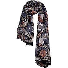 Buy Fat Face Soft Floral Scarf, Navy Online at johnlewis.com