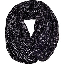 Buy Fat Face Ditsy Snood, Navy Online at johnlewis.com
