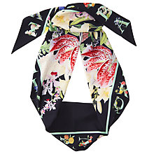 Buy Ted Baker Zena Skinny Scarf, Ivory/Multi Online at johnlewis.com