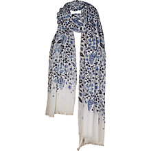 Buy Fat Face Butterfly Garden Sequin Scarf, White Online at johnlewis.com